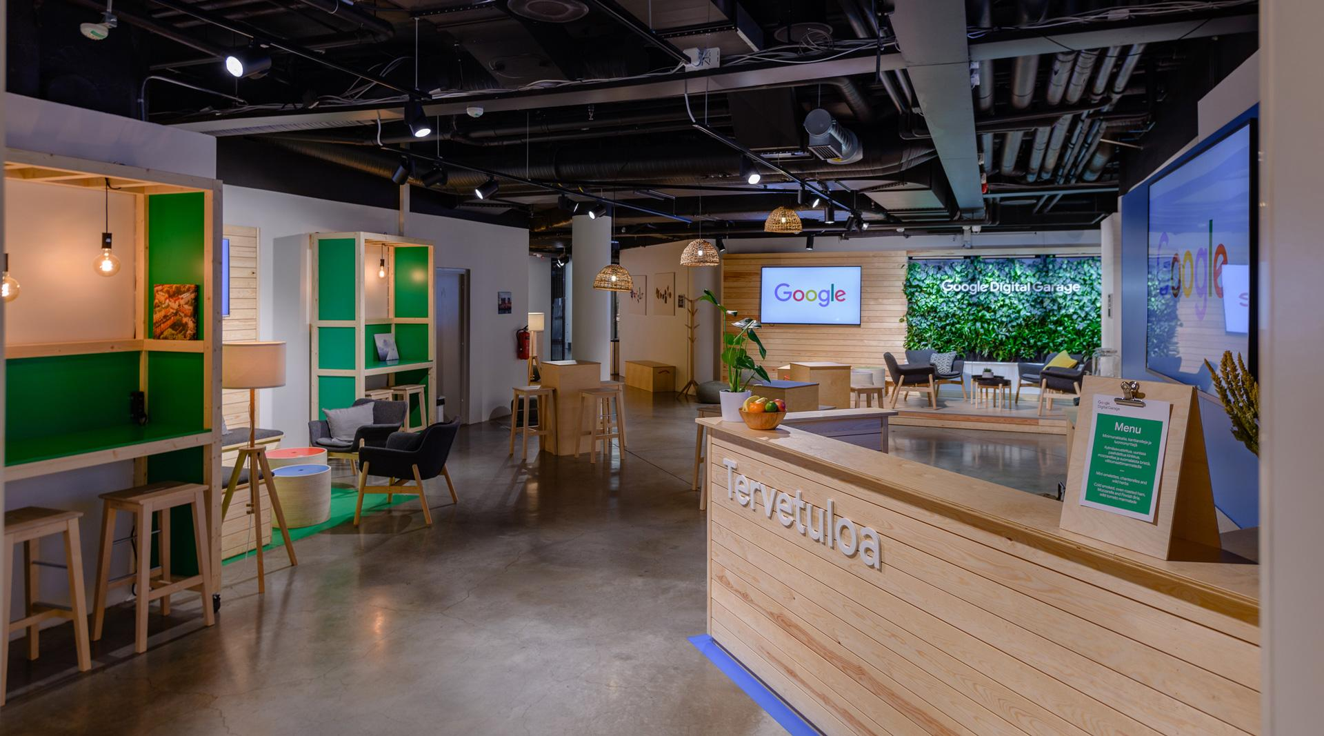 Google Digital Garage Oppimistila Helsingin Kluuvikadulla